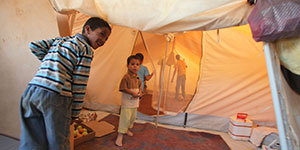 $550 could provide a whole family with a tent to shelter them.
